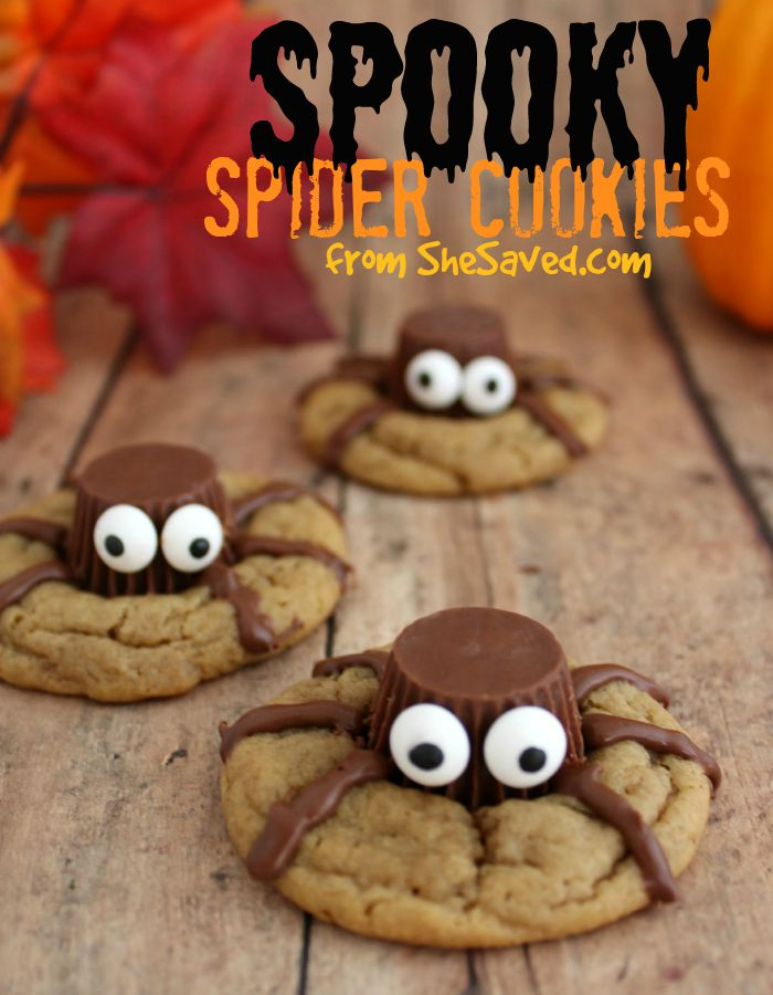 Halloween treat spooky spider cookies shesaved for Halloween treats to make with kids