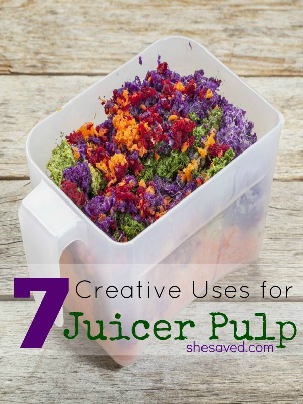 Love to juice? Save these 7 uses for juicer pulp so that you don't waste a bit!