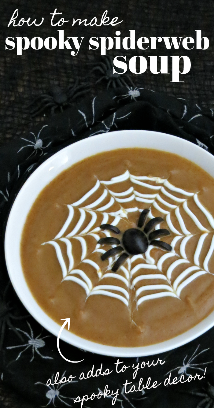 How to make spooky spiderweb soup recipe