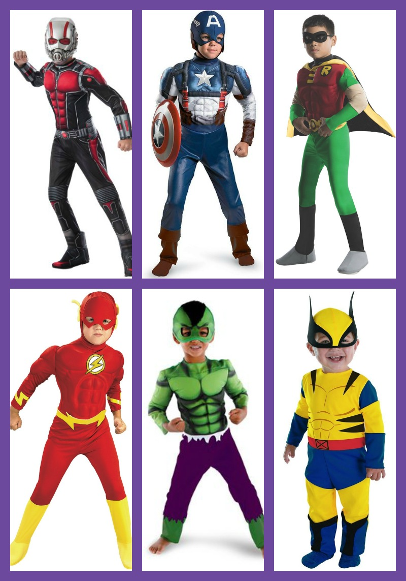 Boy Superhero Costumes Halloween Shesaved