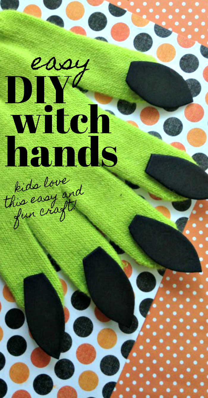 Make these easy DIY Witch Hands for a fun homemade Halloween Costume