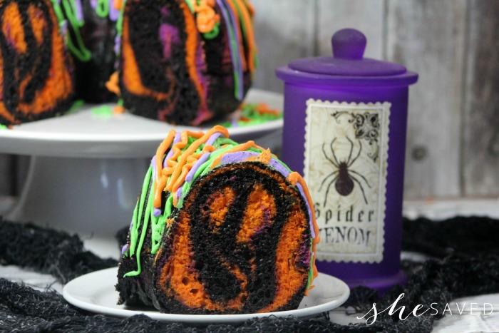 Ghosts in Spooky Bundt Cake