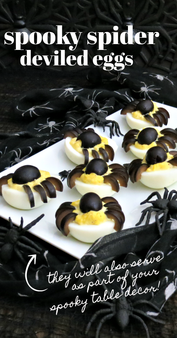 Spooky Halloween Side Dish: Spider Deviled Eggs