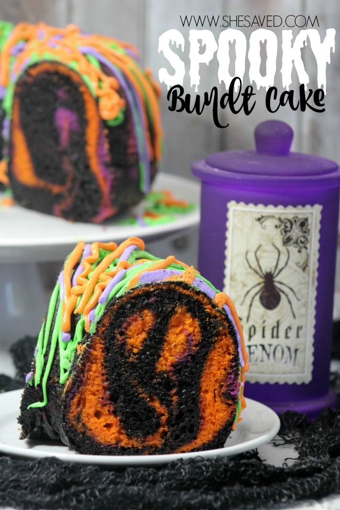 Make this Spooky Bundt Cake to impress your little goblins this year!