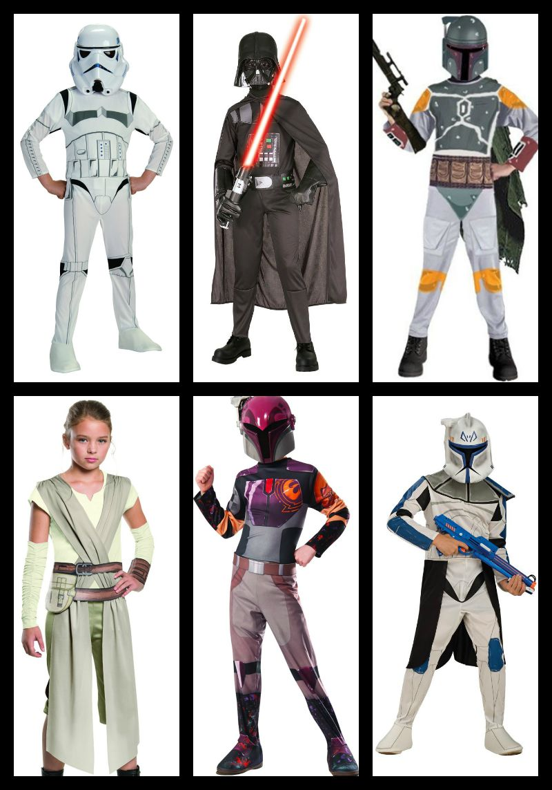 Here are some great Halloween Star Wars Costumes for kids!