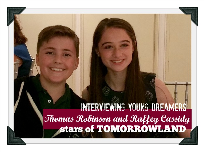 Talking about TOMORROWLAND with Young Stars Raffey Cassidy and Thomas Robinson