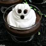 Easy Halloween Dessert Idea: Whipped Cream Ghosts