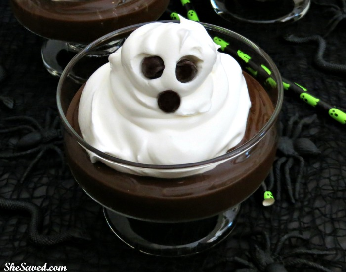 Just a dollop of whipped cream and you have yourself a spooky whipped cream ghost! The perfect way to spook up dessert and SUPER easy!!
