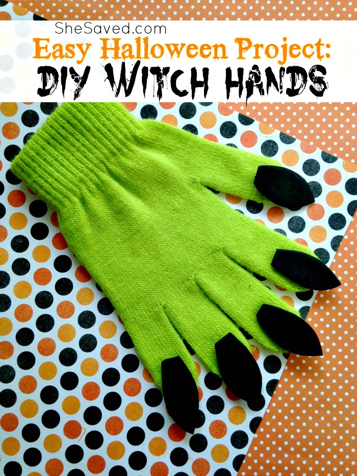 Easy Witch Hands Halloween Costume Ideas