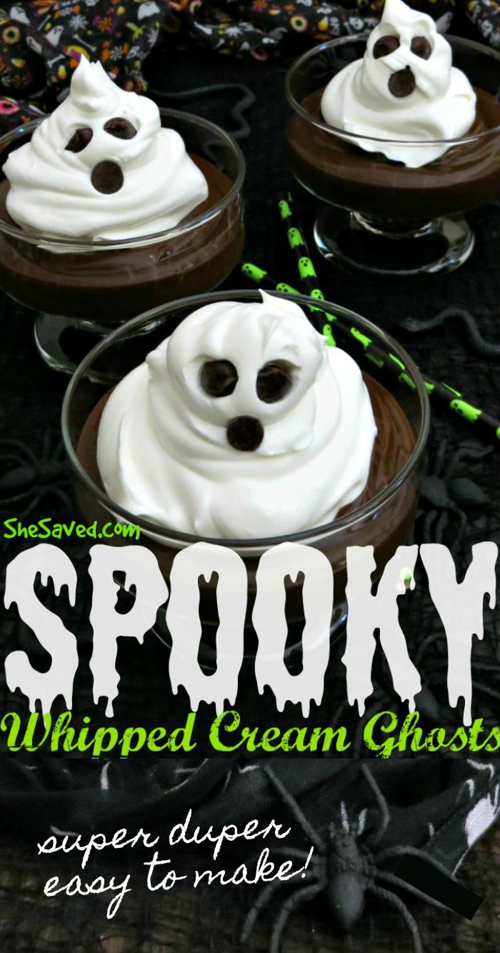 Whipped Cream Ghosts recipe Halloween Treat