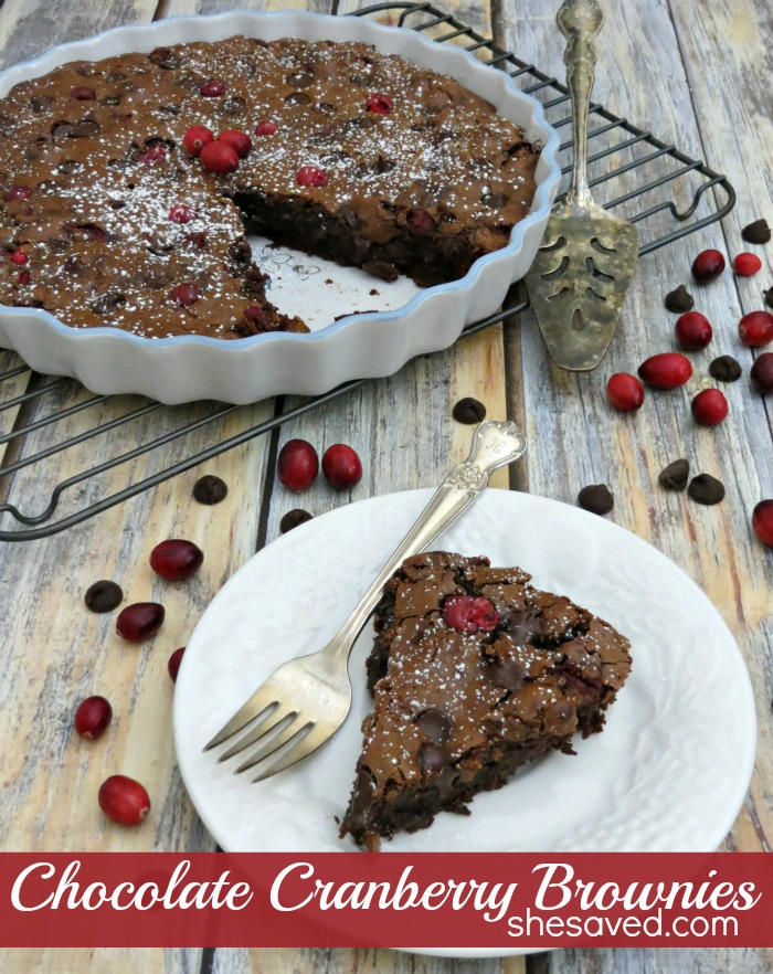 Move over pumpkin pie! These Chocolate Cranberry Brownies win the day and are such an awesome Thanksgiving dessert!