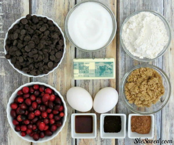 Here are the Cranberry Brownie Recipe Ingredients that you will need to make the best dessert ever!