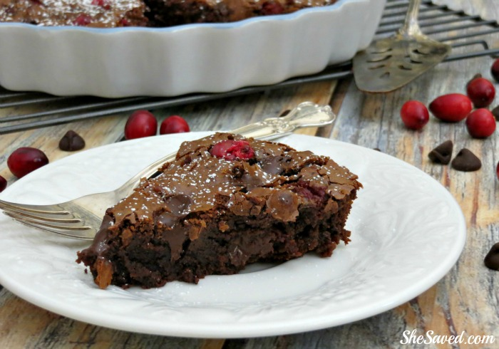 Such an amazing holiday dessert, this Chocolate Cranberry Brownie will complete your festive meal!