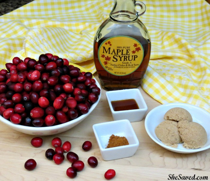 Simple ingredients is all it takes to make this delicious Maple Vanilla Cranberry Sauce