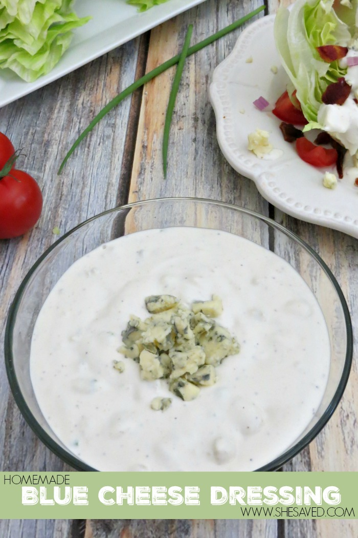 Nothing beats homemade and this Homemade Blue Cheese Dressing recipe is amazing!