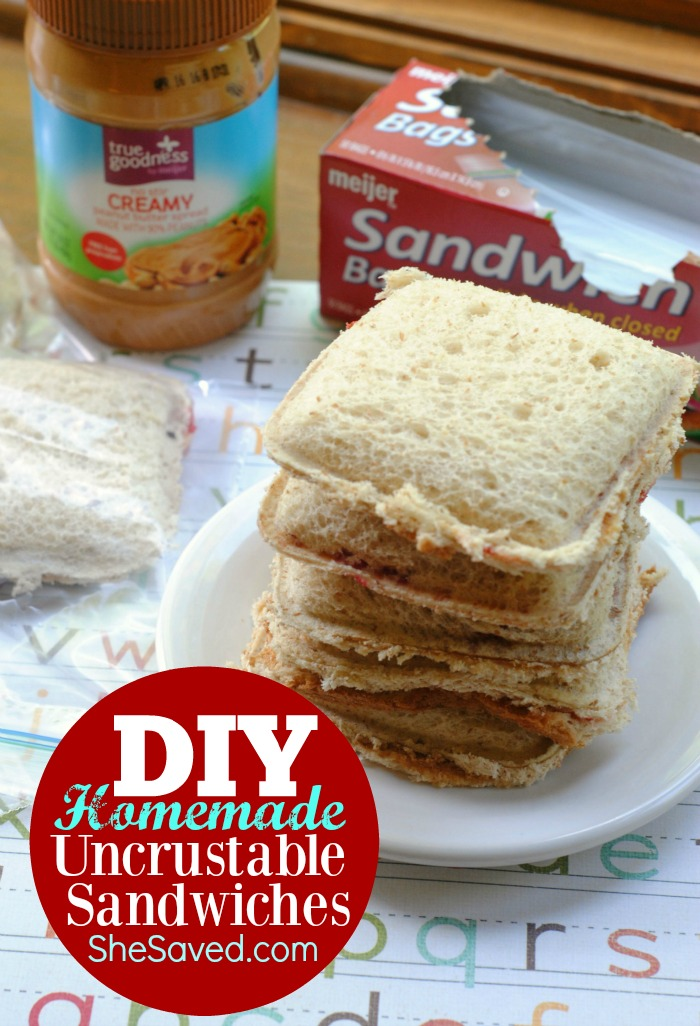 Your kids don't like the crust? Make your own Homemade Uncrustable Sandwiches at home!