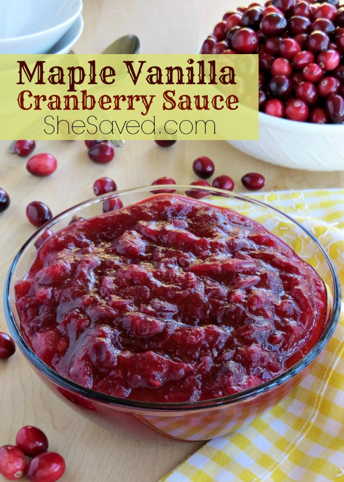 This Maple Vanilla Cranberry Sauce will be a delicious addition to your holiday meal!