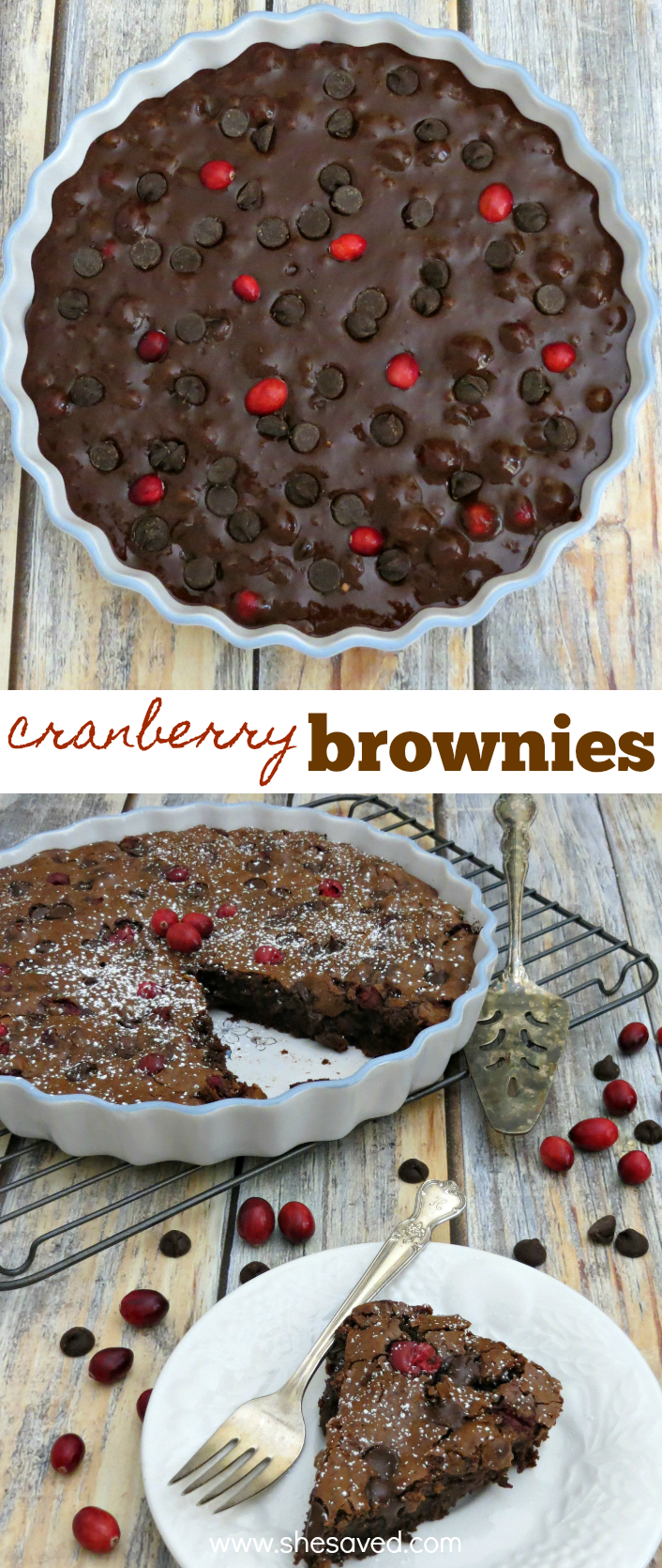 Easy Chocolate Cranberry Brownie Recipe