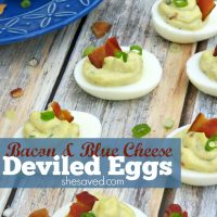 Bacon & Blue Cheese Deviled Eggs