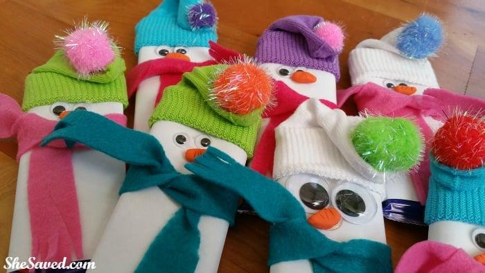 Candybar Snowmen