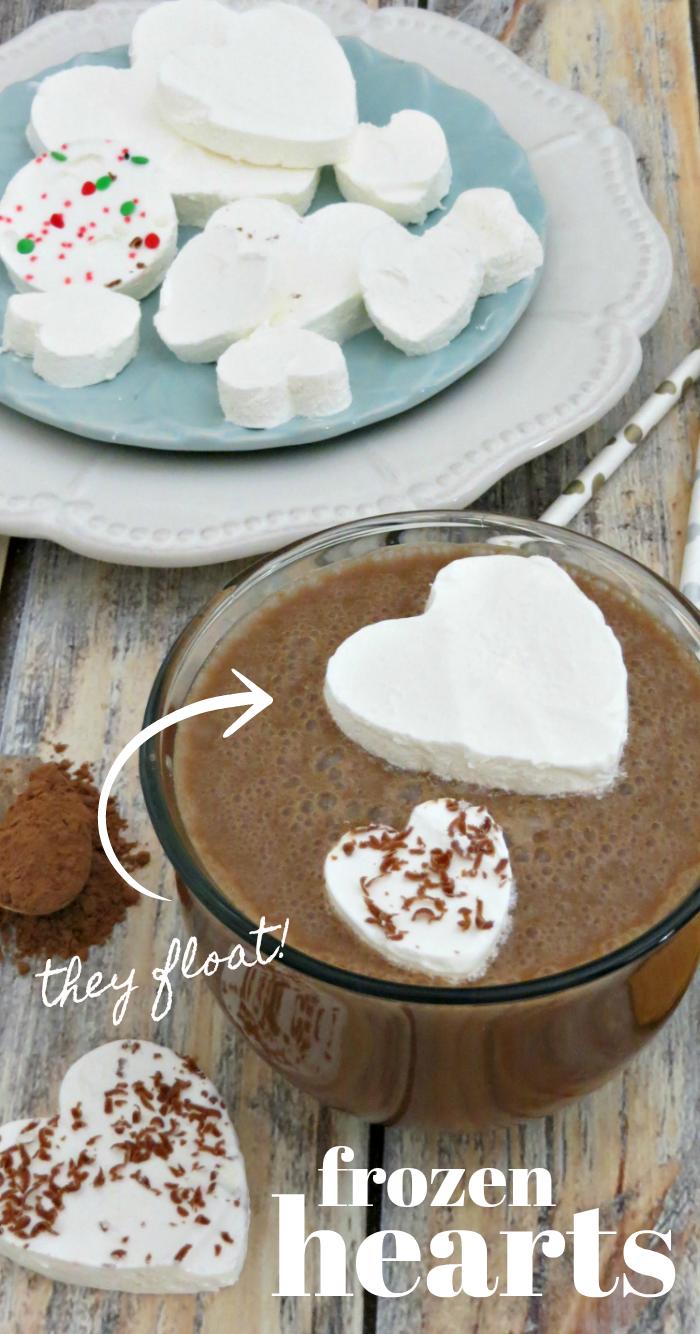 Frozen Whipped Cream Hearts recipe