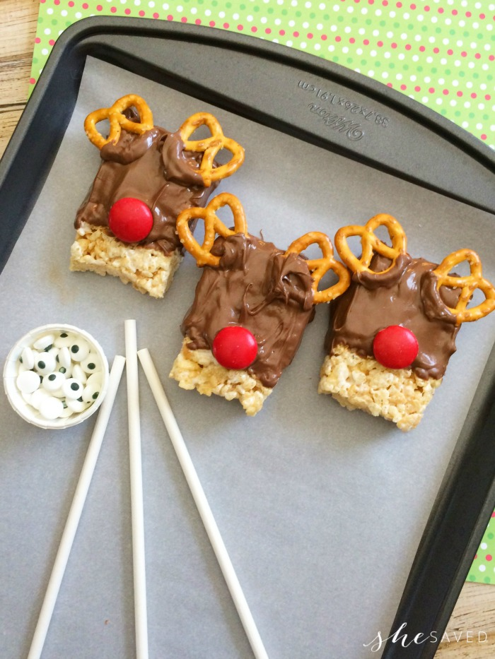 Reindeer Treats from Rice Krispies
