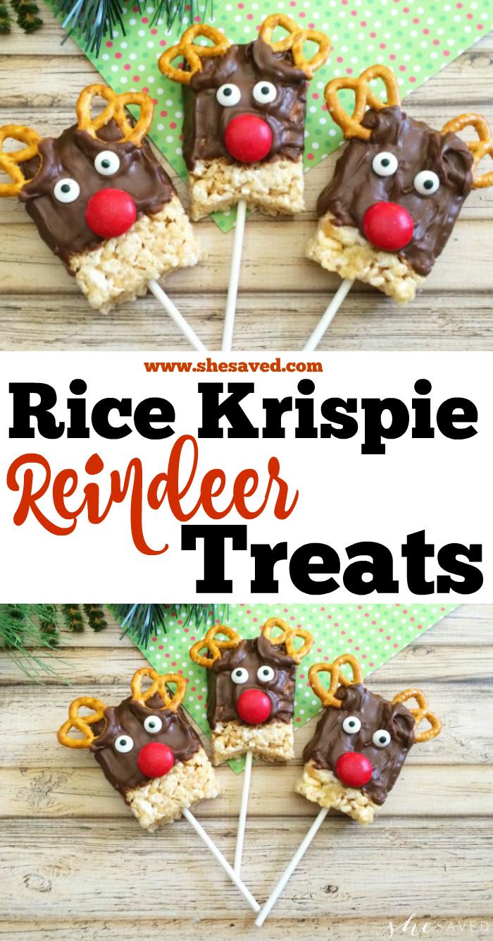 Rice Krispie Reindeer Treats