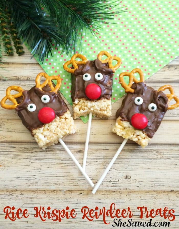 Aren't these Rice Krispie Reindeer Treats the cutest? We love them and best of all, this is an easy holiday treat to make with little ingredients needed!