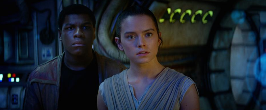 Daisy Ridley plays Rey in STAR WARS: THE FORCE AWAKENS