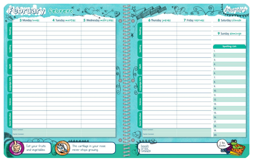 Organizing Life (for the kids!): Elementary School Year Planners ...
