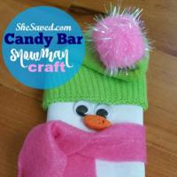 Homemade Gift Idea: Candy Bar Snowman Craft