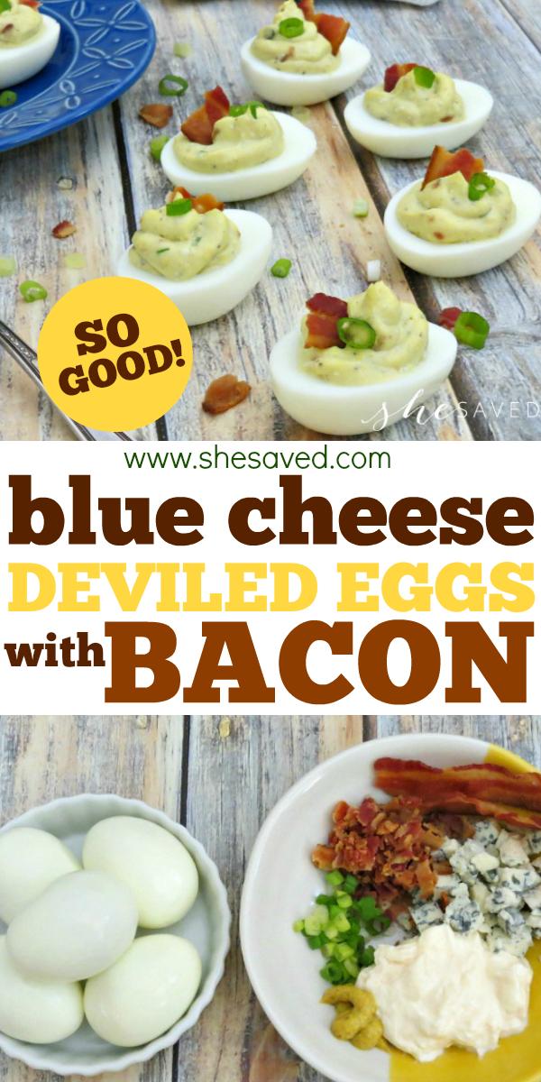 blue cheese deviled eggs recipe