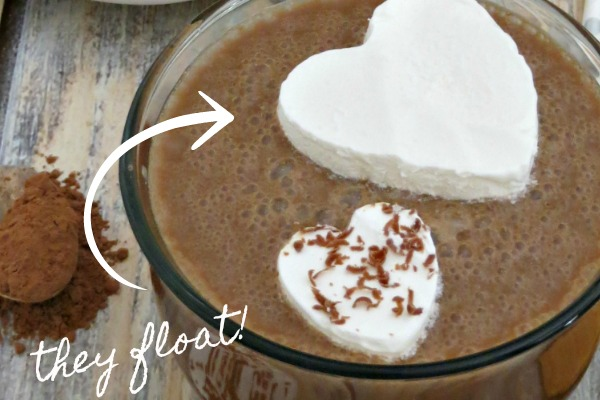 How to make frozen hot chocolate hearts