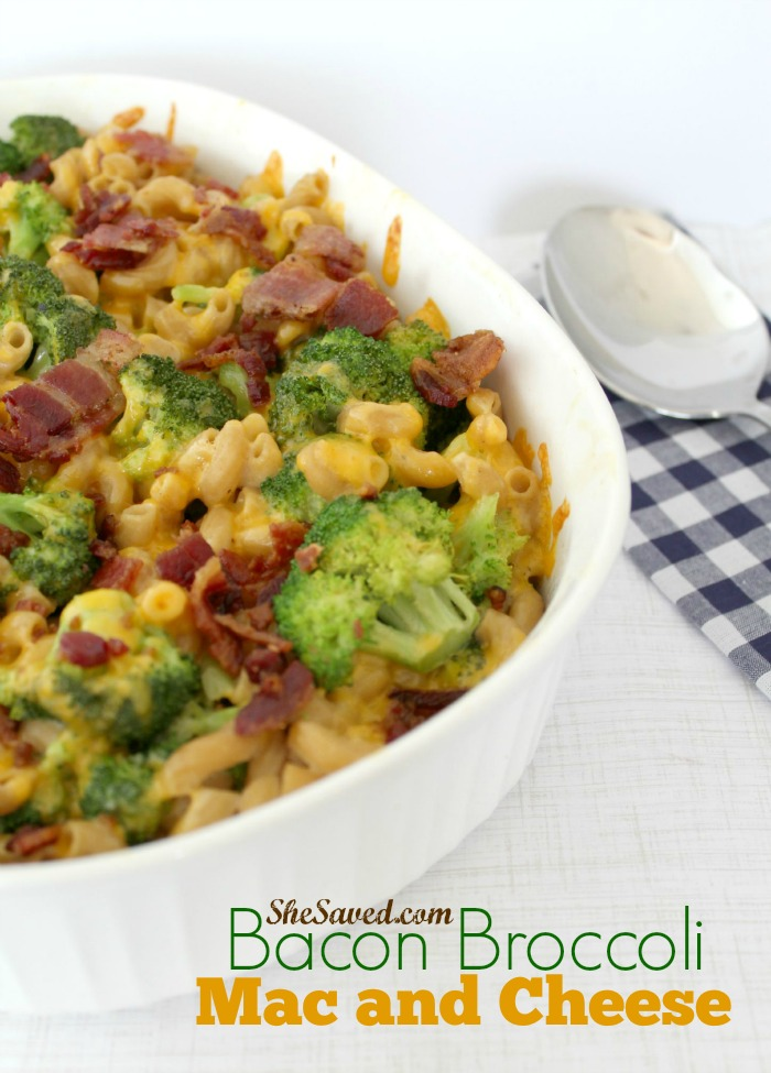 Here's a new twist on an old favorite! This Bacon Broccoli Mac and Cheese recipe will be a family favorite!