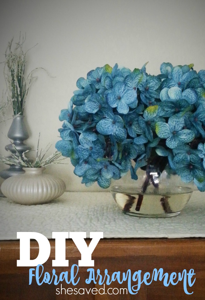 This fun DIY Floral Arrangement how-to will help you to make your own flower arrangements on the cheap!