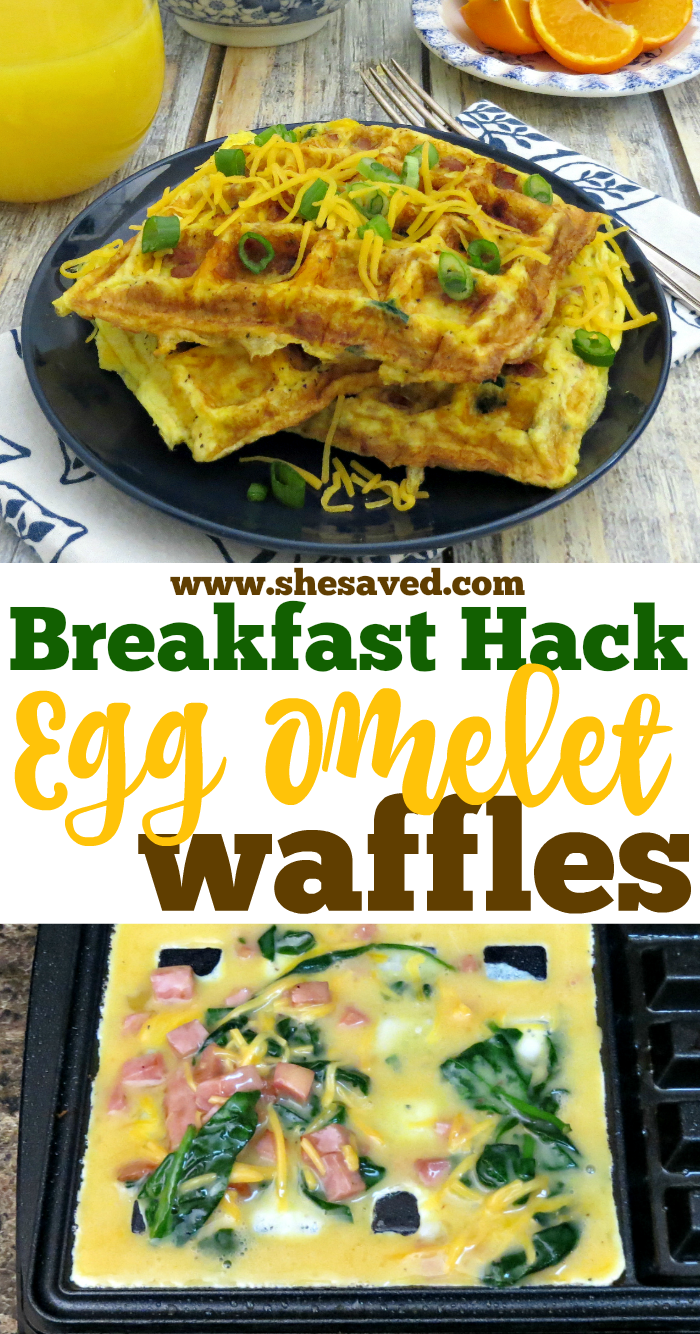 How to make Egg Omelet Waffles in the waffle iron