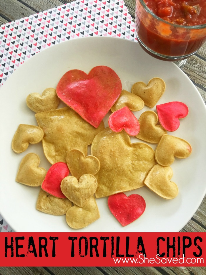 Looking for a fun Valentine's Day snack to make? Check out these darling homemade Heart Tortilla Chips! So easy and just plain adorable!