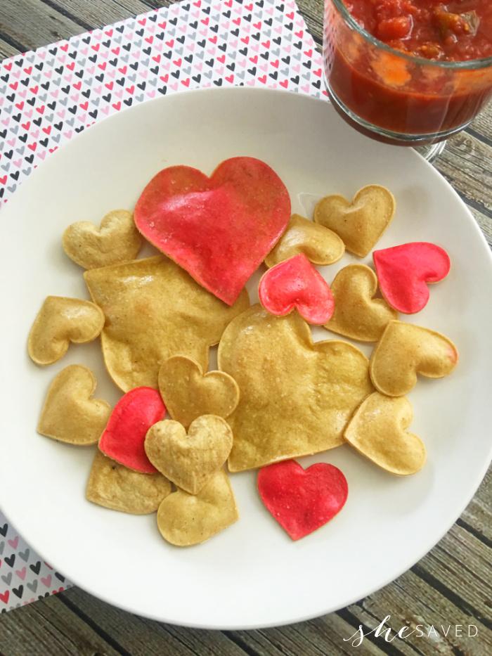 Making Heart Shaped Tortillas