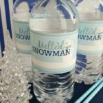 FREE Printable: Melted Snowman Water Bottle Labels