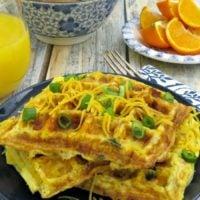 Omelet Waffle Recipe Breakfast Hack