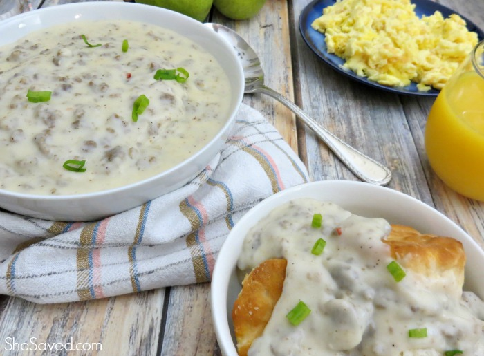 Nothing is better then homemade Sausage Gravy and this homemade sausage gravy recipe is amazing, especially over biscuits!