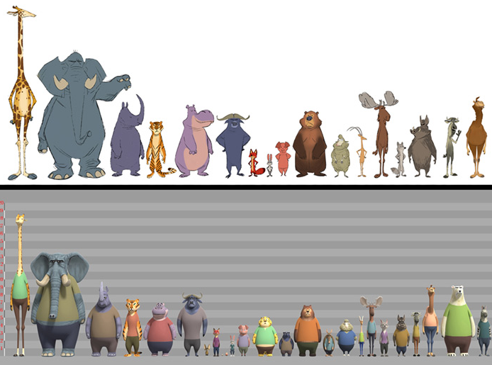 Zootopia Size Chart