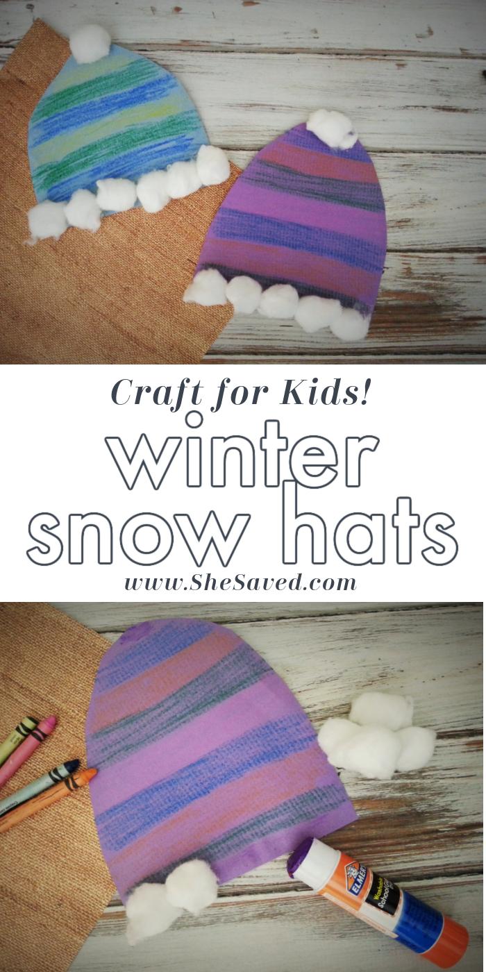DIY Winter Hat Craft for Kids