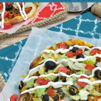 Taco Flatbread Pizza Recipe