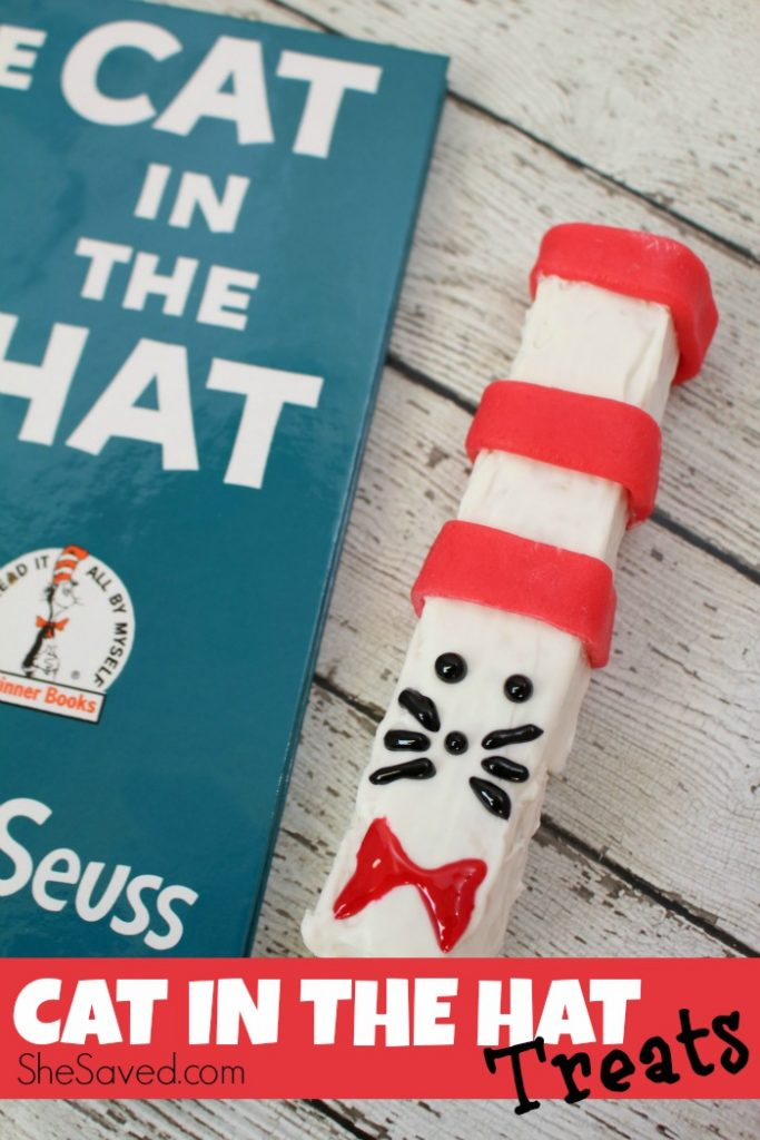 Celebrate Dr. Seuss Day with these darling Cat in the Hat treats, so fun for your reading week party!