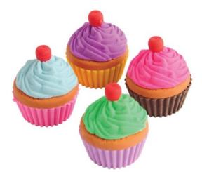 Cupcake Erasers