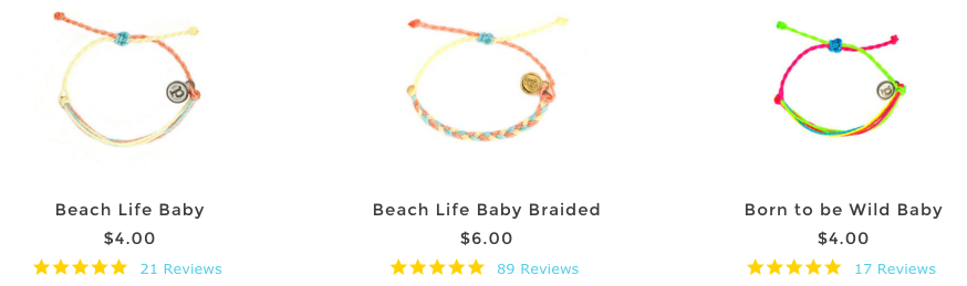 Pura Vida Baby Bracelets