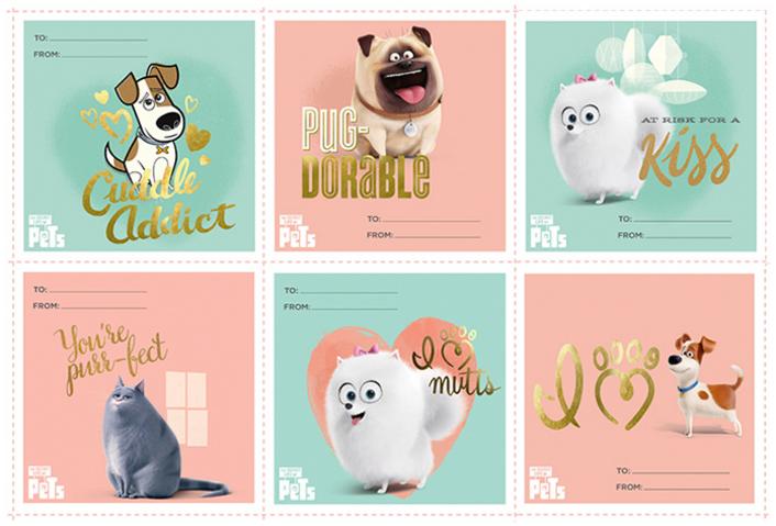 Secret Life of Pets Valentine