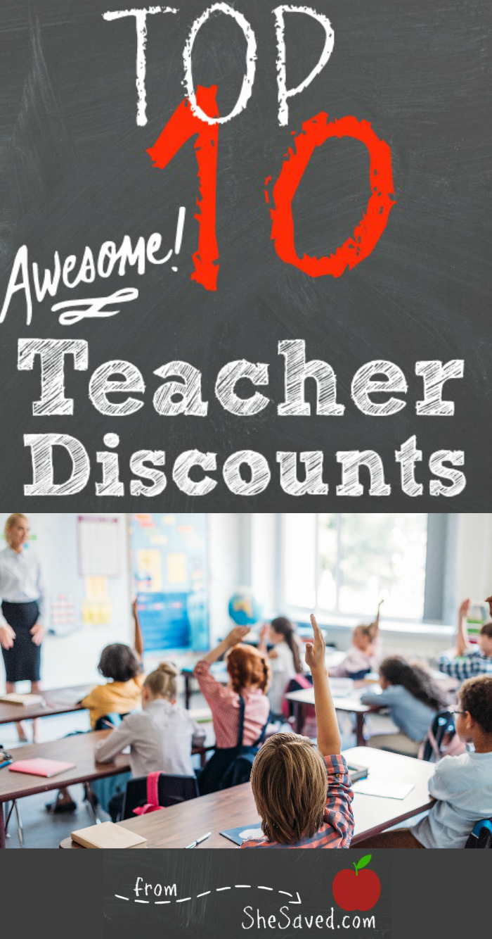 Teacher Discounts at Stores
