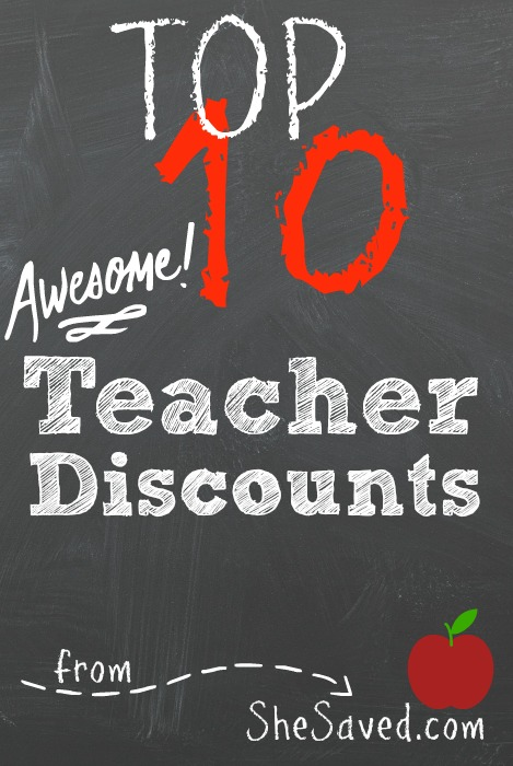 Teachers work so hard which is why it's so neat that so many companies give Teacher Discounts! Use this list to make sure you know which stores show teacher appreciation!
